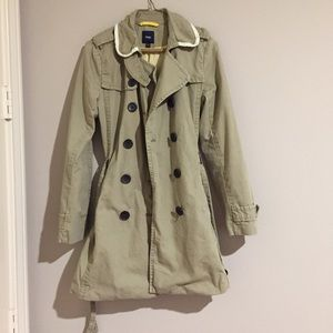 Gap piped collar trench coat